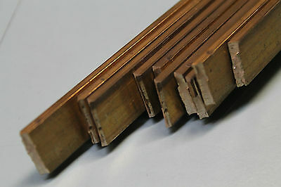 Flachmaterial Vierkant Messing 15x3mm / 250mm lang