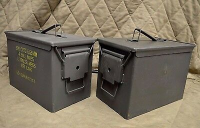 ( 2 Pack) Fat 50 Cal Pa108 Saw Box Ammo Can Very Good Condition *free Shipping *