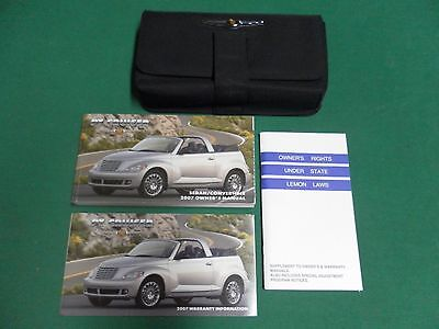 2007 Chrysler PT Cruiser Owners Manual with Case