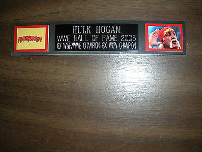 Hulk Hogan Nameplate For Signed Trunks Display/photo/plaque