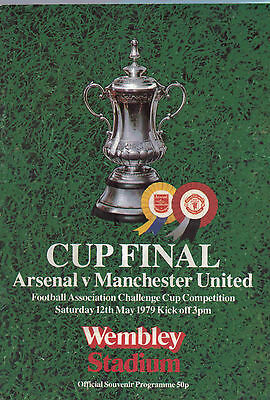 Arsenal v Manchester United Cup Final 12th May 1974 - Official Programme