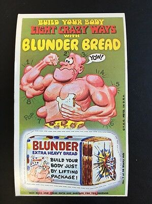RARE 1969 Topps WACKY ADS Large Card PACKAGES RARE Short PERF POOPSIE #23