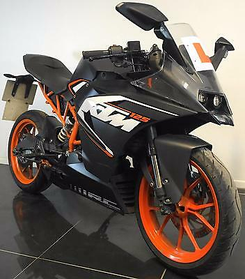 2015 15 KTM RC 125 ABS TRADE SALE LEANER LEGAL RACE REPLICA CAT D REPAIRED 3702m
