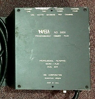 NSI-ND 5000 4 CHANNEL Programable Dimmer Great Working Condition.