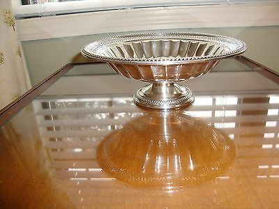 "La PIERRE  ANTIQUE STERLING SILVER 81/2""X31/2"" FOOTED BOWL 306 GRAMS-WEIGHTED"