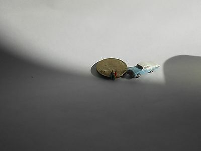 Z Scale 55 Chevy Light Blue   Auto/vehicle Handpainted For Train Layout