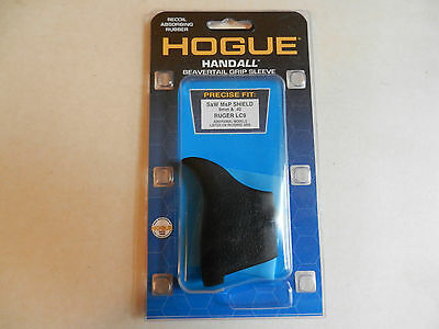 Hogue HandAll; Beavertail Grip Sleeve; Fits M&P Shield, Ruger LC9; Black; 18400