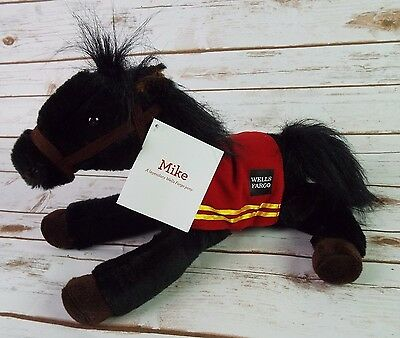 Mike Wells Fargo Bank Horse Pony Plush Toy Black With Hang Tag