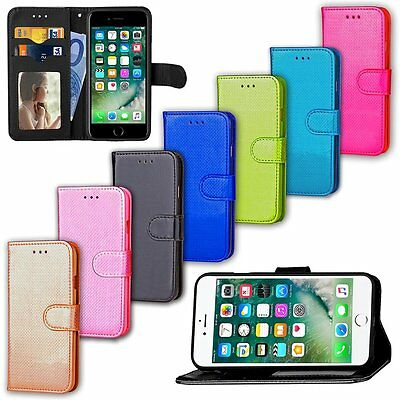 Glitter Luxury Leather Magnetic Flip Card Wallet Cover Case For iPhone