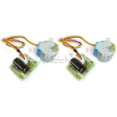 2PCS 12V Stepper Motor 28BYJ-48 + Drive Test Module Board ULN2003 5Line 4 Phase