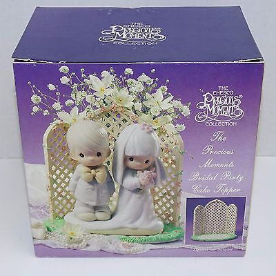 Precious Moments Enesco The Bridal Party Cake Topper With Box 4 Piece 831484