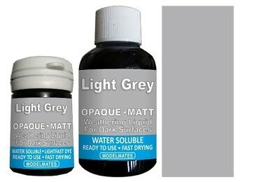 Modlemates Opaque Weathering Liquid - Light Grey - 18ml Paint New