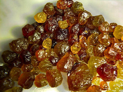 Garnet golden green RARE all natural mine rough crystal Mali,Africa 75 carats
