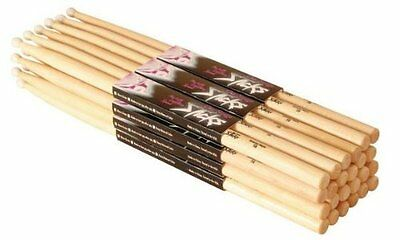 On Stage Maple 5B Wood Tip Drumsticks (MW5B) 12 Pairs $
