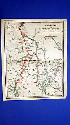 Vintage Map of West Taku Arm and Whitehorse Districts, Alaska