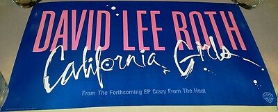"David Lee Roth (Van Halen)  -12"" x 21"" -""California Girls "" -1985 PROMO Poster"