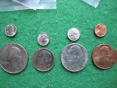 40 - Mini Us Coins Quarter- Dime- Nickel- Penny
