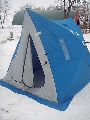 Clam Twin Hub 2 Fish house hunting tent NEW in box free shipping