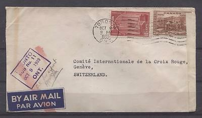 Canada #241&243 10c & 20c Pictorial on 1939 Triple Wt Airmail Cvr to Europe F-67