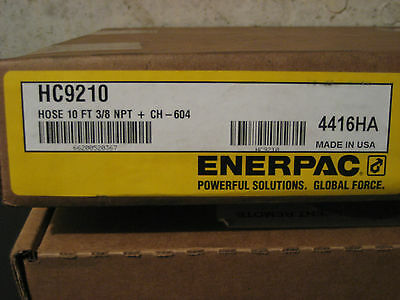 "Enerpac HC9210 Hose Assy, Hyd, 10 Ft CH604 Male Coupler 3/8"" Male NPT"