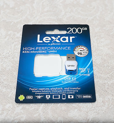 NEW Lexar USB3.0 Micro SD/SDXC Memory Card Reader Adapter Branded