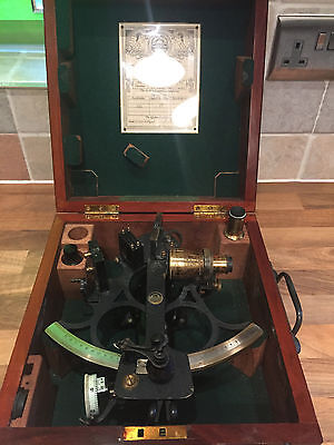 Vintage Marine WW2 Sextant by Husun Henry Hughes London Maritime Ship Boat