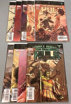 Incredible Hulk #92-100 Marvel 2006-2007 - Lot of Nine Comics - Planet Hulk
