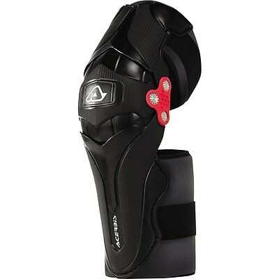Black Sz One Size Acerbis X-Strong Knee Guards Motorcycle Protection
