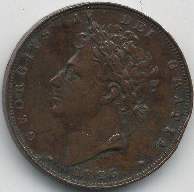 1826 George IV Farthing***Collectors***