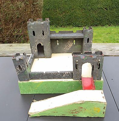 Vintage 1950's Small Triang Foldaway Fort / Castle - Wood & Card