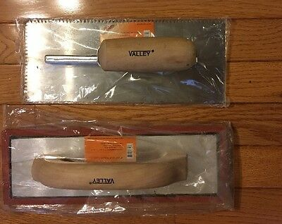 """Tiling Tool Kit RUBBER Grout Float  Notched Tile Trowel 11""""x 4.5"""" Valley USA NEW"""