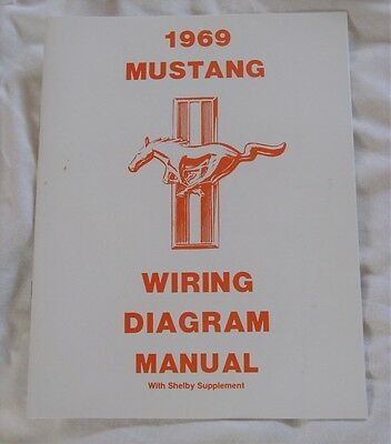 1969 Ford Mustang Wiring Diagram Manual with Shelby supplement Jim Osborn (used)