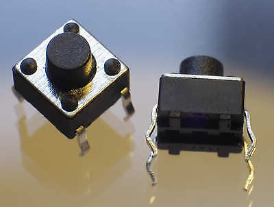 10 Microtaster Microschalter Mikroschalter Microswitch Tactile Switch 6x6 mm THT