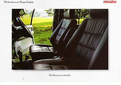 Isuzu Trooper Insignia,3.0 & 3.5  LWB,Factory Sales Brochure,1999