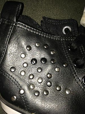 Amy Coe Black High Top Tennis Shoes With Skull And Crossbones Size 8