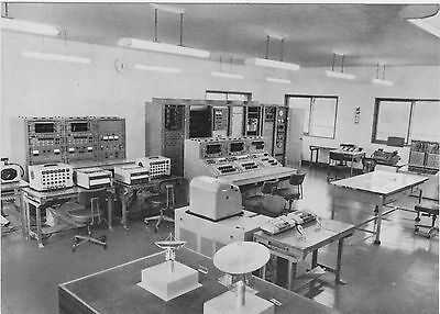 Japanese Earth Station Control Room Postcard