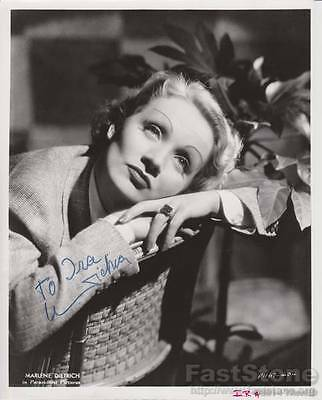 MARLENE DIETRICH Original Autographed  Signed  8x10 Photo Picture w/COA