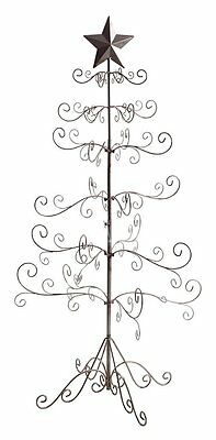"""Christmas Tree Table Top Antique Silver Wire W/ Scroll Branches 49"""" Tall OPENBOX"""
