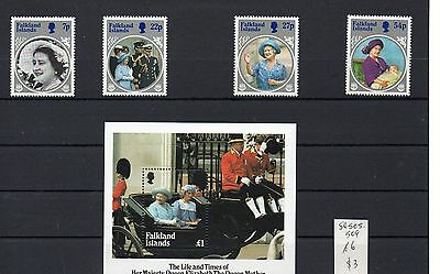 Falkland Islands Life and Times of Queen Mum 1985 set muh