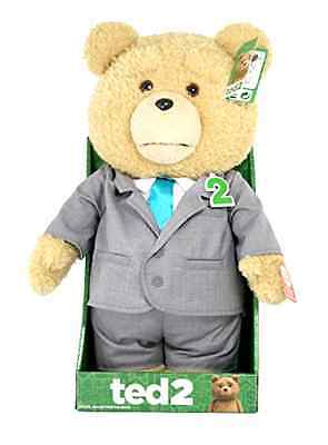 """Ted 2 AnimaTeddy Bear Explicit Doll  puppet in Suit, 16"""" COOL DOLL nice GIFT!!!"""