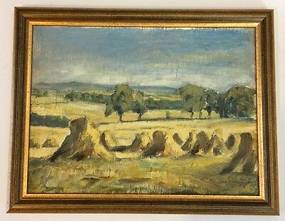 BRITISH SCHOOL - Haymaking - Oil Painting on Canvas/Panel in Frame