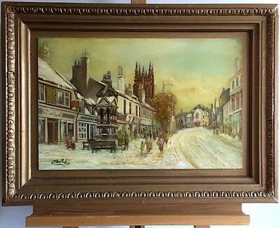 JAMES PATRICK Kirkintilloch, signed oil painting on wood in frame