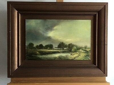 JAMES PATRICK Sun Breaking Through, signed oil painting on wood in frame