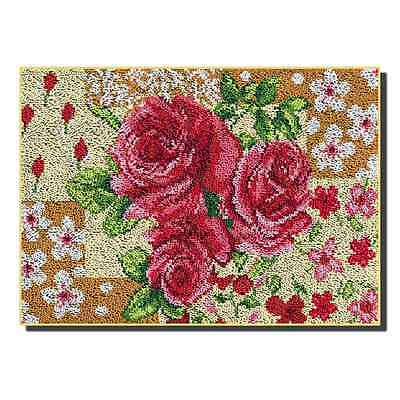 Rose Latch Hook Rug Kit Large size - *NEW* everything included