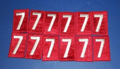 BSA Red Troop number numeral 7  Lot of 12 MINT Patches