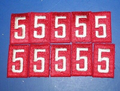 BSA Red Troop number numeral 5 Lot of 10 MINT Patches