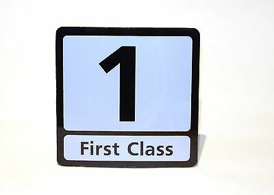BR British rail / GNER / Intercity 1st class carriage sign