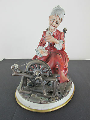 """Capodimonte Figure """"the Spinster"""" - Signed"""