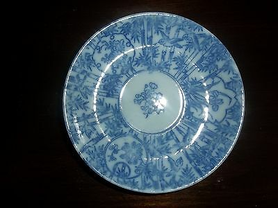Antique Blue and White Saucer