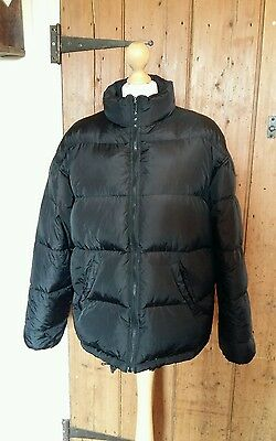 Ladies Black Puffa Style Padded Feather And Down Coat From Bay Size 14